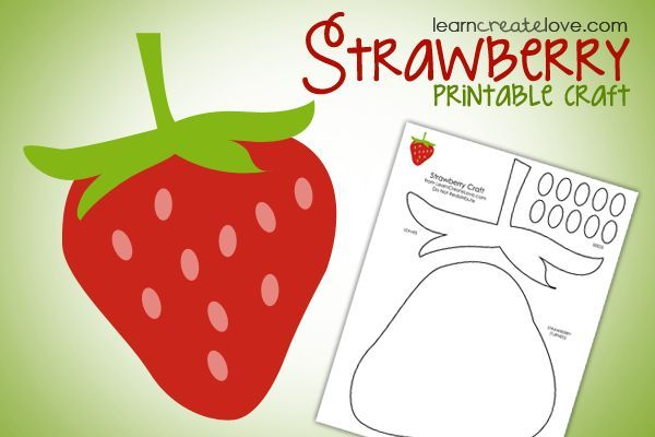 { Printable Strawberry Craft } using this with the storty of The Little Mouse, the Red Ripe Strawberry, and the Big Hungry Bear.  : )