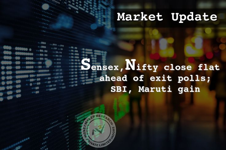 Equity benchmarks closed flat after volatility, especially ahead of outcome of exit polls of assembly elections in five states due later today. The 30-share #BSE #Sensex was up 27.19 points at 28929.13 and the 50-share #NSE #Nifty gained 2.70 points at 8927. The market breadth remained positive as about 1632 shares declined against 1176 advancing shares on the BSE. #MoneyMakerResearch
