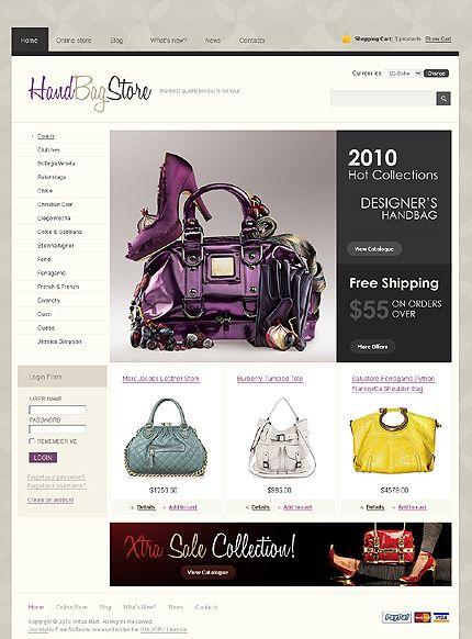 Handbag Store VirtueMart Templates by Delta