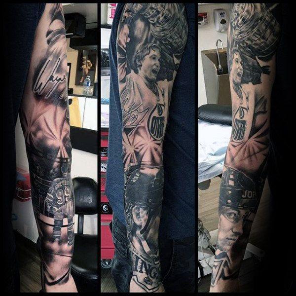 75 Hockey Tattoos For Men Nhl Design Ideas Hockey Tattoo Tattoos For Guys Tattoos