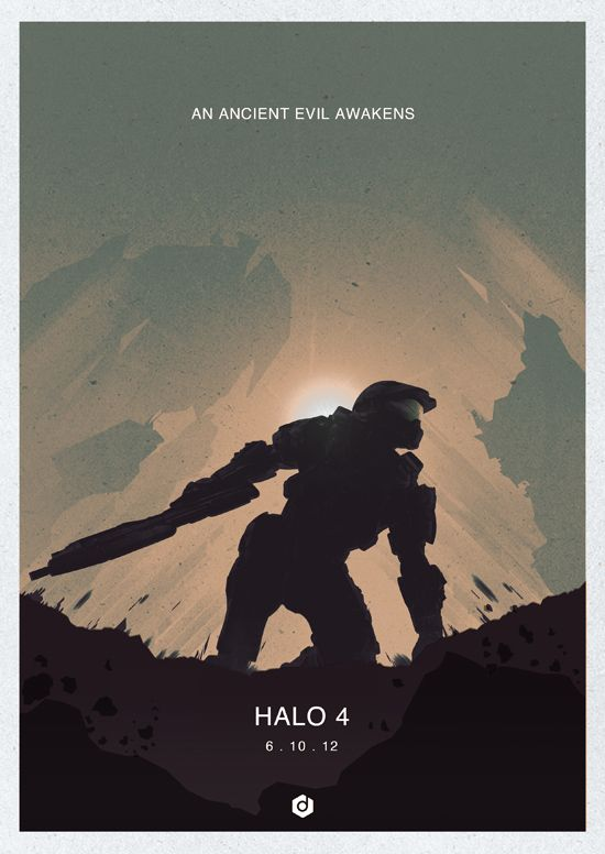 Halo 4 minimalist poster 4 by doaly