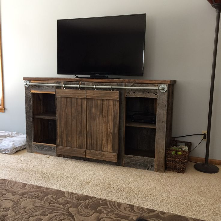Modified Grandy Sliding Door Console | Do It Yourself Home Projects from Ana White