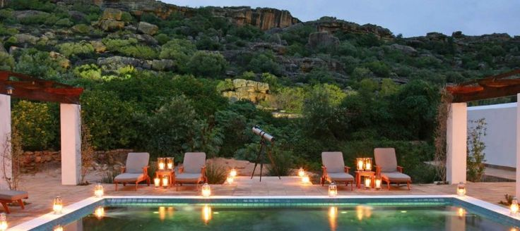 Bushmans Kloof This stunningly beautiful lodge boasts four pools, one of which is heated, and a world class health spa, among other superb facilities. The reserve itself is natural and cultural wonderland.