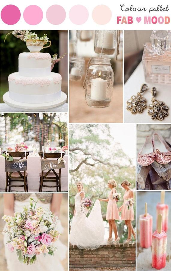Pastel & Rustic Wedding Board