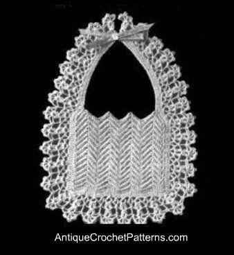 ~ Vintage Baby Bib ~ Antique Crochet Patterns Free....