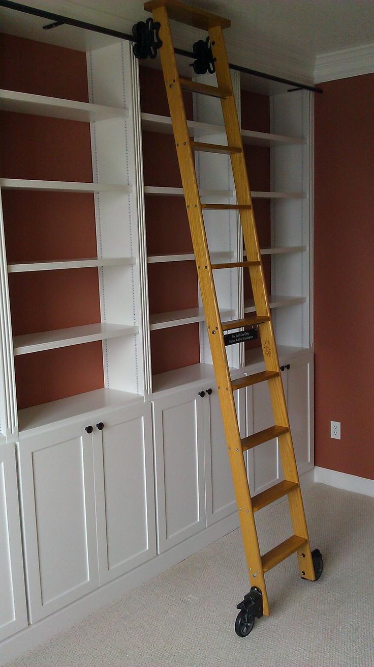 Custom built-in floor to ceiling bookcase
