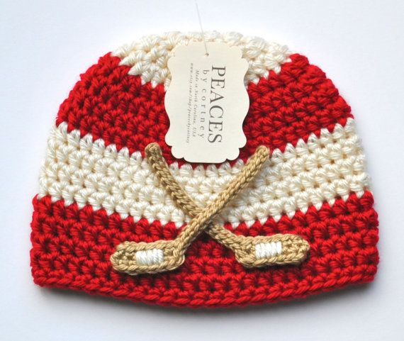 Detroit Red Wings Hockey Baby Beanie Hat by Peaces by Cortney www.etsy.com/shop/peacesbycortney