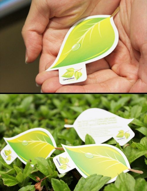 45 best business cards images on pinterest 3d business card leaf business card creative business card inspired by nature designed for generation green reheart Image collections