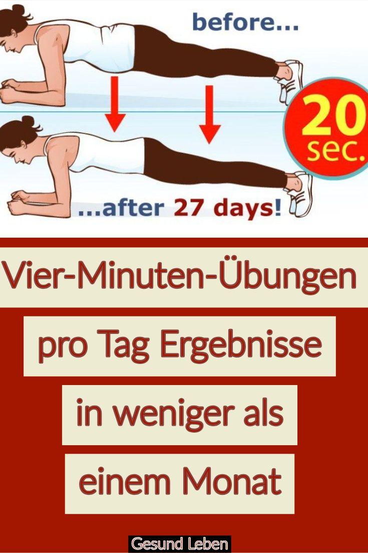 Vier-Minuten-Übungen pro Tag Ergebnisse in weniger als einem Monat