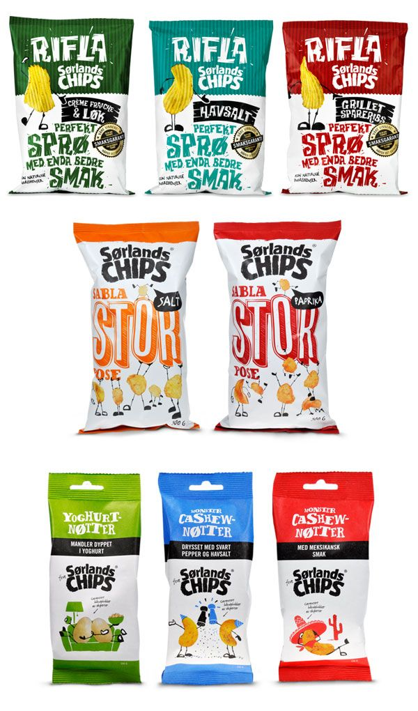 Assortment of really cute chip #packaging : ) PD