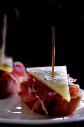 Serrano Ham and Manchego Cheese Pintxo