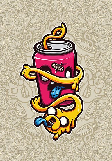 Can of Jake Cartoon Character by Mr-InkHeart