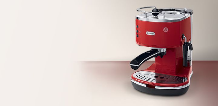 The new pump-driven DeLonghi Icona ECO310R coffee machine makes a striking, innovative and functional addition to any coffee-lover's home.