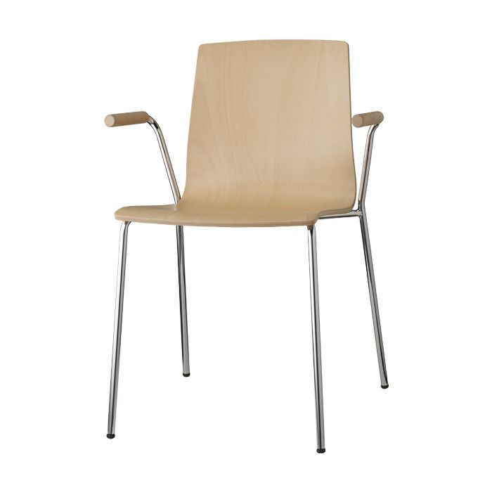 Alice Wood with open armrests - SCAB Design