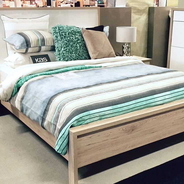 Our Kas Room 'Kenzie' quilt cover set design on display at @harveynorman, Castle Hill. #LoveKas
