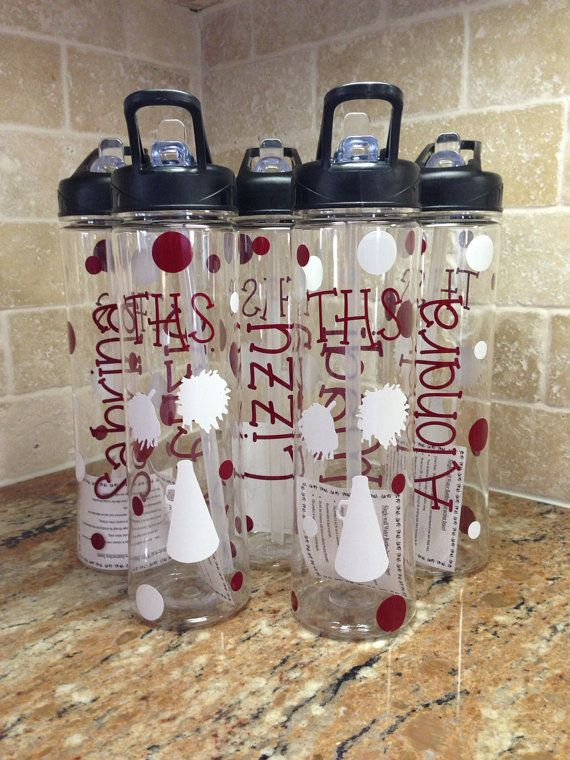 Personalized Water Bottles - Great Cheer Team gifts on Etsy, $13.00