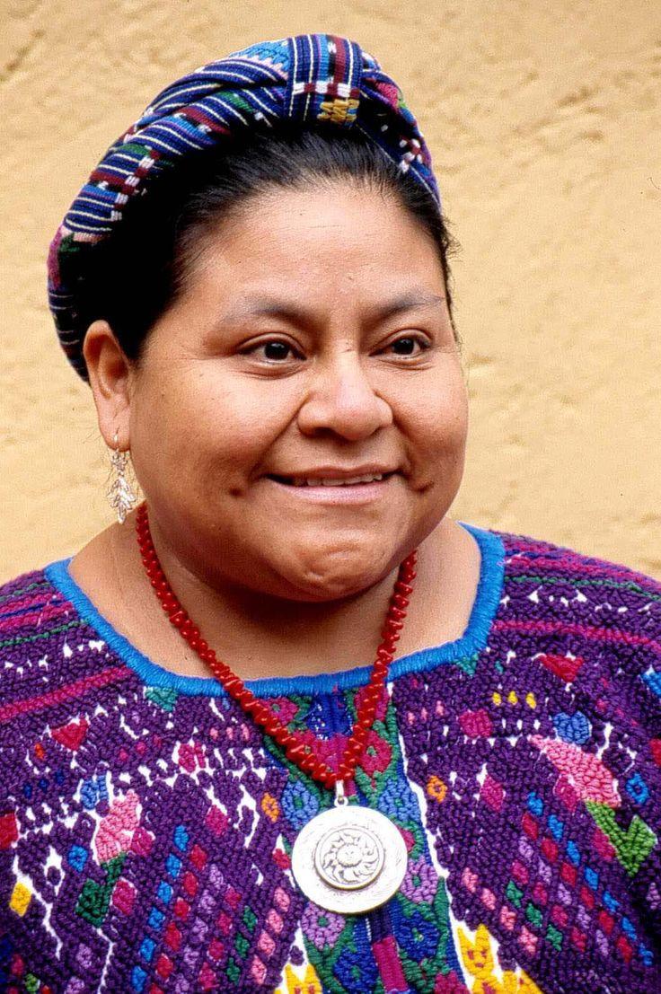 Rigoberta Menchu, a human-rights activist. She particularly fight for the rights of American Indians and native peoples. She's from Guatemala.