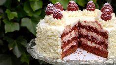 Red velvetcake met roomkaasglazuur