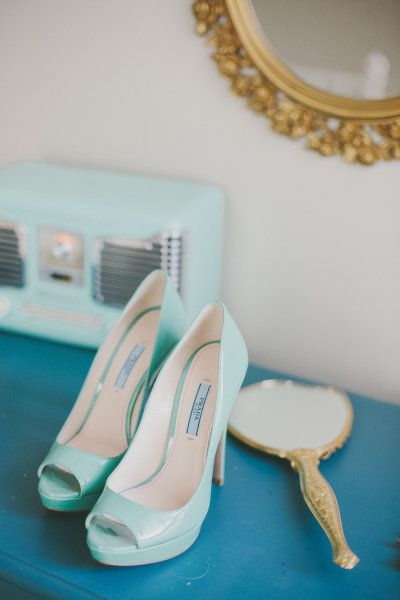 Gorgeous Prada pumps...Photography by mangostudios.com  Read more - http://www.stylemepretty.com/2013/06/18/berkeley-church-field-house-wedding-from-mango-studios/