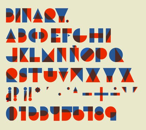 .: Graphic, Inspiration, Alphabets Typography Letters, Typeface, Color, Binary Type, Fonts, Design
