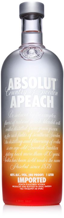 ABSOLUT Apeach Cranberry Juice Orange Juice Shake with ice and strain to a ice filled highball glass, garnish with a peach wedge.