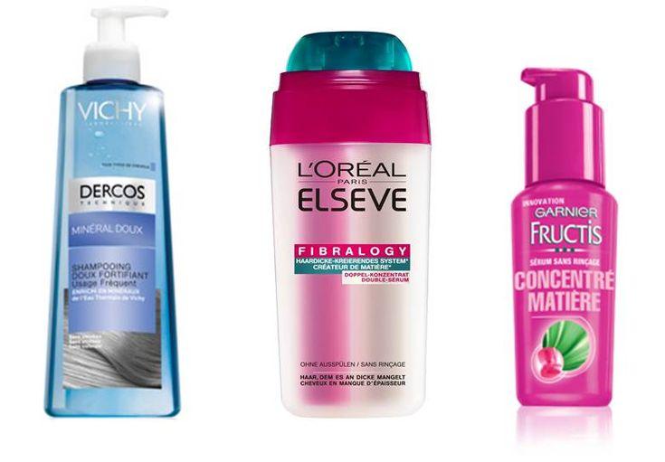 Produtos para cabelos finos e enfraquecidos