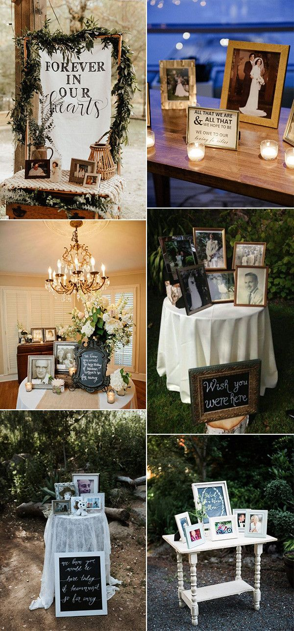 15 Wedding Memorial Table Decoration Ideas For Those Who Are Forever In Our Hearts Emmalovesweddings Memory Table Wedding Wedding Memorial Witch Wedding
