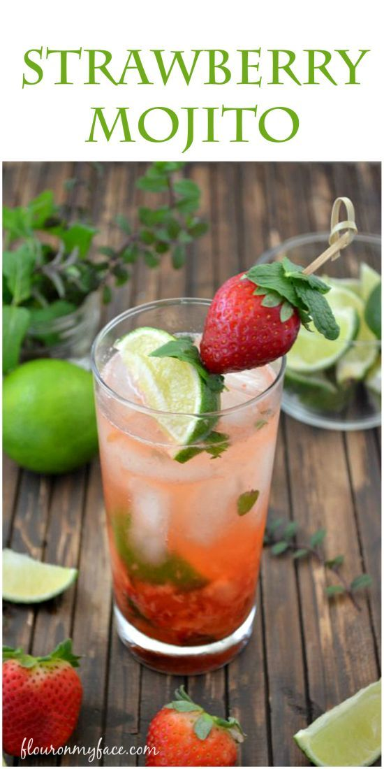 Have a sip of this Strawberry Mojito made with #FreshFromFlorida strawberries.