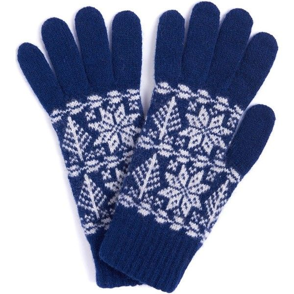 Women's Barbour Arctic Fairisle Gloves - Indigo ($36) ❤ liked on Polyvore featuring accessories, gloves, fair isle gloves, barbour gloves and barbour