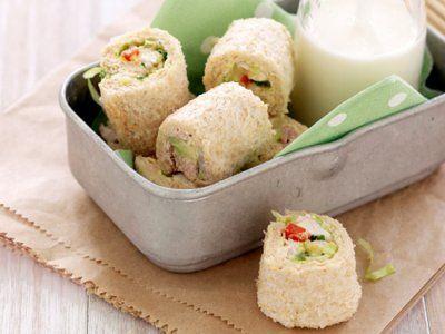 Receta de Sandwi Sushi | Una forma diferente de hacer un sandwich y sushi, para los peques.