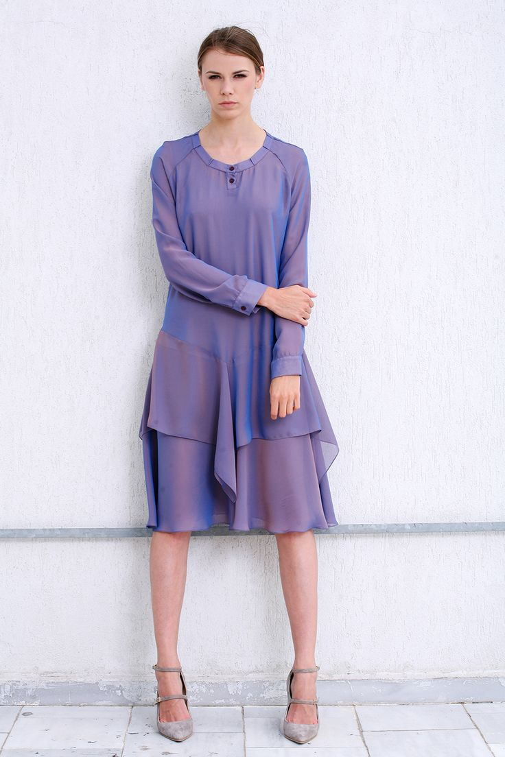 Silk and voile dress
