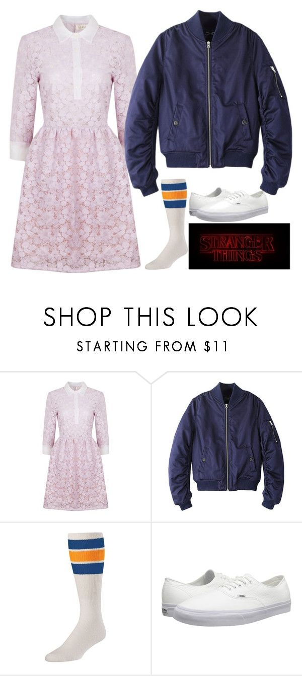 """""""Eleven - Stranger Things"""" by samantha-hannum ❤ liked on Polyvore featuring Ukulele, Chicnova Fashion and Vans"""