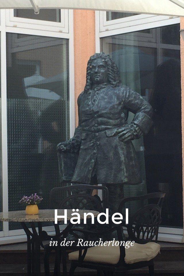 Händel in der Raucherlonge vom  #Dorint  #Hotel Halle Saale