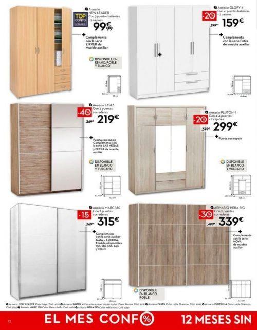Armarios y vestidores conforama 2018 hogar armarios for Armario conforama dormitorio