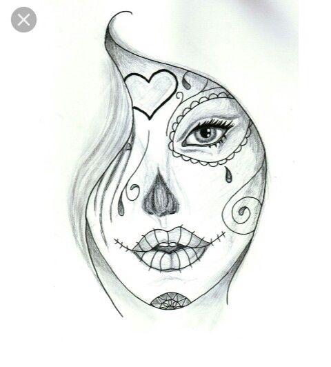 Dibujo  de la Catrina