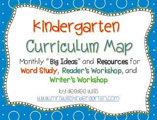 Mrs. Wills Kindergarten: Kindergarten Curriculum Map ELA -Freebie-Sneak a peek at what other K teachers are doing.