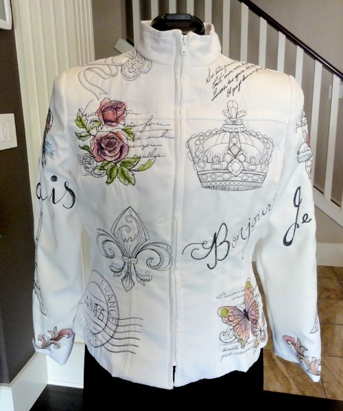 Urban Threads stitcher Gail created this stunning Parisian jacket from a pattern, and her beautiful work won her an award at the fair.: Cookbook Parisians, Urban Thread Parisians, Jackets Front, Embroidered Jackets, My Friends, Stitches Punk, Parisians Jackets, Stunning Parisians, Awesome Stuff