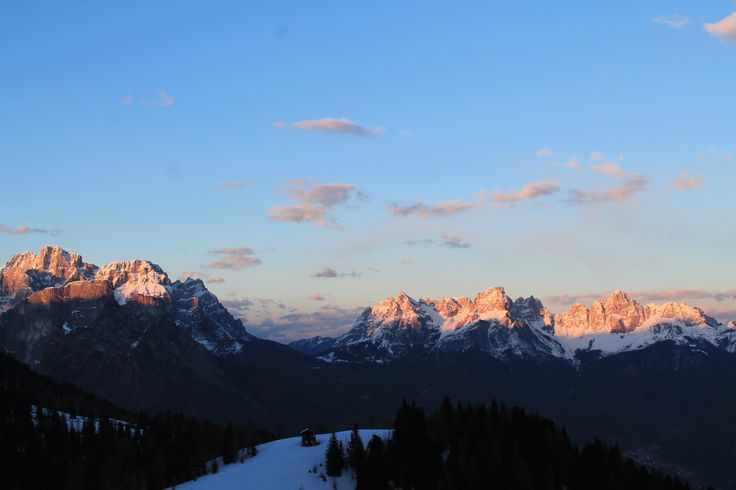 #Mountain #winter #landscape #dolomiti #explore #sunset #view #refuge #hiking #refuge
