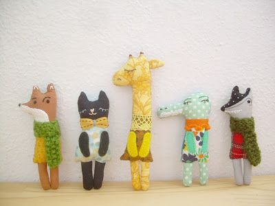 Tiny handmade animal friends for kids, or not so kids!
