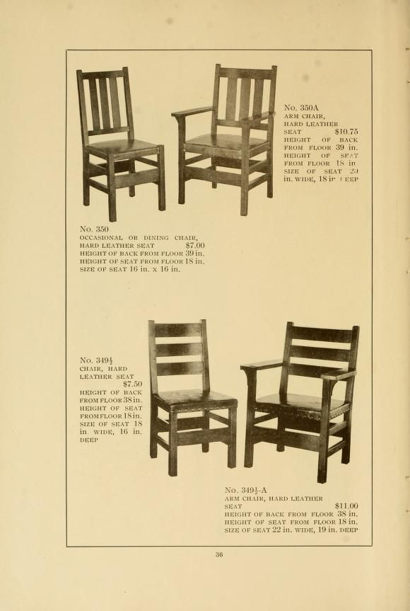 Catalogue Of Craftsman Furniture Made By Gustav Stickley At The