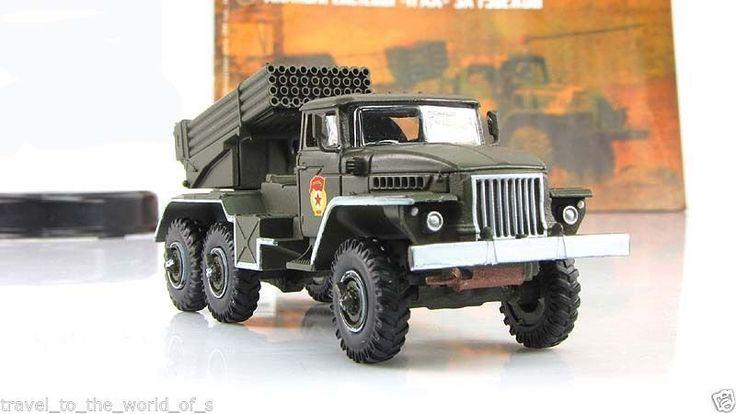 Fabbri 1:72 BM-21 Grad diecast tank model+magazine USSR Soviet Tanks