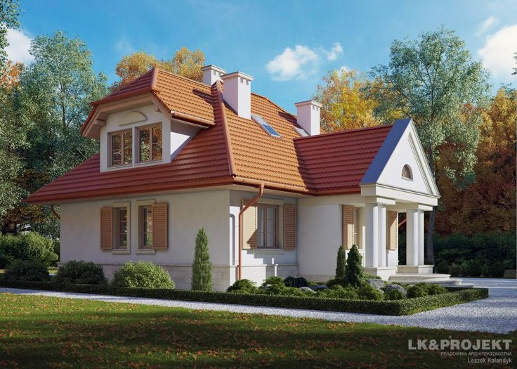 Projekty domów LK&Projekt LK&461 wizualizacja 2