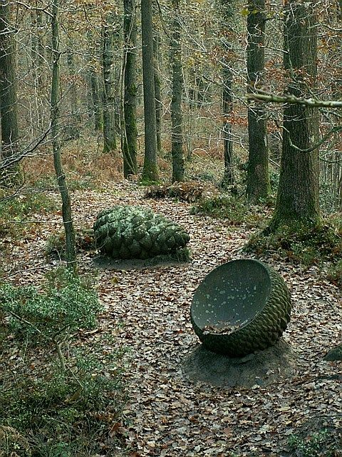 Cone and Vessel - Sculpture Trail Forest of Dean  near to Brierley, Gloucestershire, Great Britain