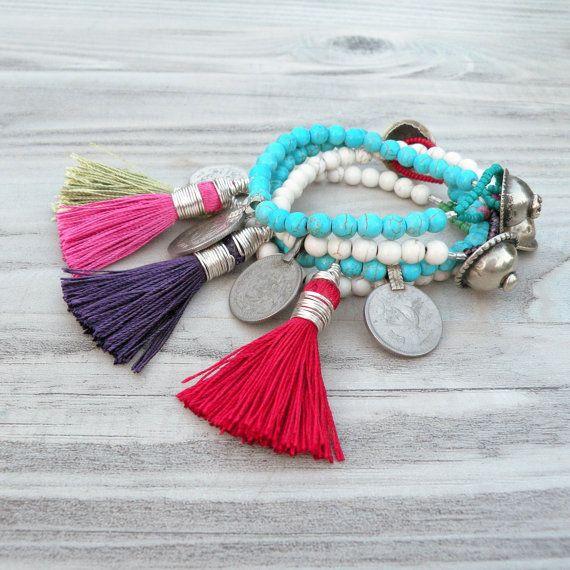 Gypsy Mala Tassel Bracelets
