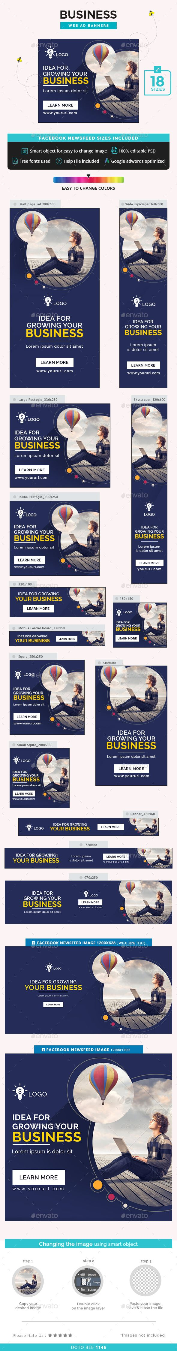 Business Web Banners Design Template PSD. Download here: http://graphicriver.net/item/business-banners/14859851?ref=ksioks