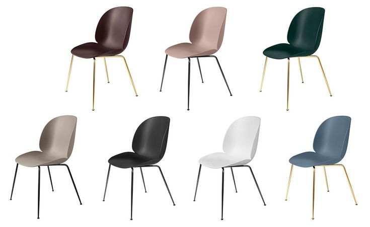 beetle dining chair with conic base