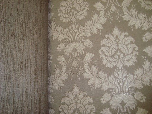 ... behang vinyl taupe barok 6  slaapkamer  Pinterest  Taupe and Vinyls