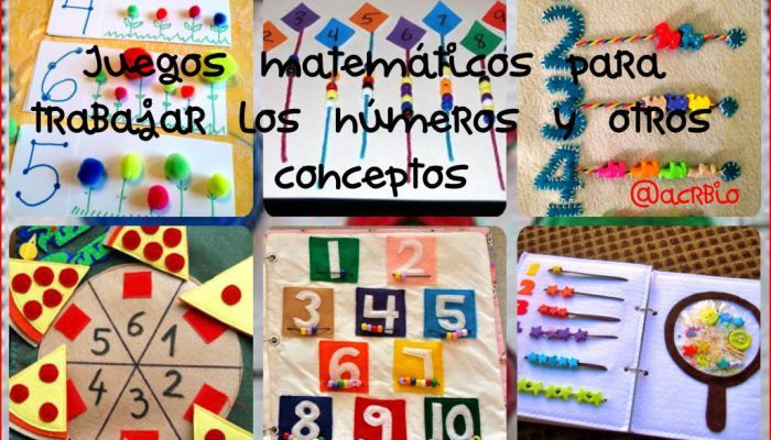 Juegos matemáticos para trabajar los números y otros conceptos lógico matemático en preescolar