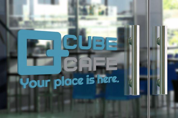Cube cafe logo design