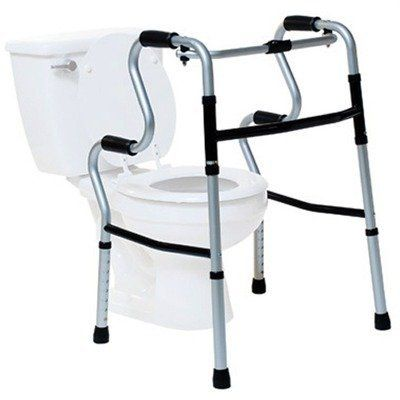 Lumex UpRise Onyx Folding Walker 700175CR by Lumex. $52.89. 700175CR Features: -Secondary handles provide stable assistance from a seated to a standing position.-Single release folding mechanism is designed to aid users with limited hand dexterity.-Can be used as a portable toilet safety frame.-Durable aluminum tubing provides strength while remaining lightweight.-Adjustable height fits a broad range of user heights.-Contoured, plastic grips for enhanced comfort and a secure h...